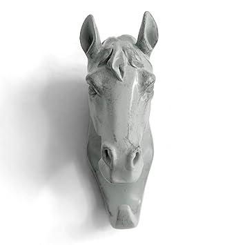 Herngee cabeza de caballo gancho de pared/percha con forma ...