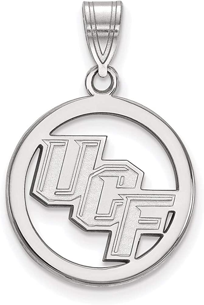 Lex /& Lu LogoArt Sterling Silver University of Central Florida Small Pendantant in Circle