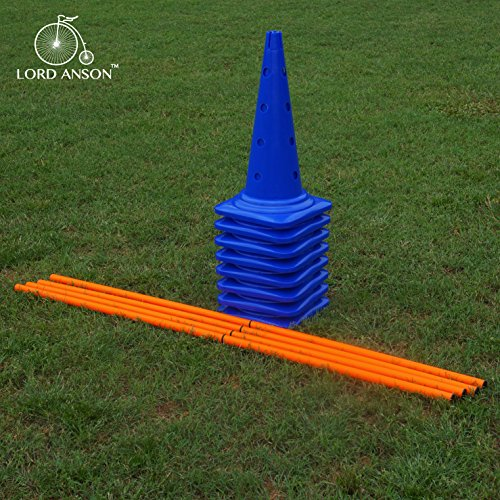 Lord-Anson-trade-Dog-Agility-Hurdle-Cone-Set-Canine-Agility-Training-Set-Obedience-Agility-and-Rehabilitation-8-Agility-Cones-and-4-Agility-Rods
