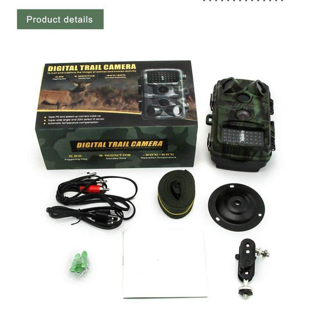Tierlr Impermeable al Aire Libre Wildlife Trail Camera HD 1080P 12MP C/ámara de Caza Monitoreo Remoto Visi/ón Nocturna Detecci/ón de Movimiento Ultra Largo Standby IP56 a Prueba de Agua