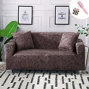 Funda Sofá Chaise Longue de 3 plazas Estiramiento, Morbuy Mármol Impresión Universal Cubierta de Sofá Cubre Sofá Funda Furniture Protector ...