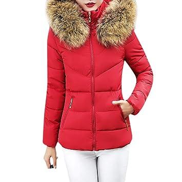 Niña otoño abrigo fashion fiesta,Sonnena ❤ Abrigo con capucha mujer abrigo grueso Short Slim Cotton-acolchado chaquetas abrigos de pieles: Amazon.es: ...