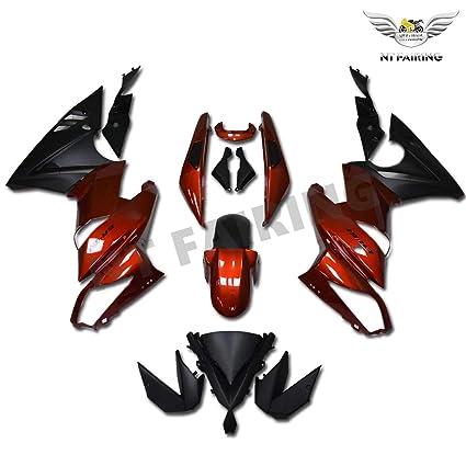 Amazon.com: NT FAIRING Red Black Fairing Fit for KAWASAKI ...