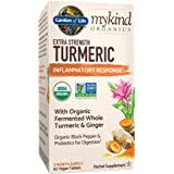 Garden of Life mykind Organics Extra Strength Turmeric Inflammatory Response 60 Tablets-100mg Curcumin (95% Curcuminoids…