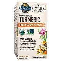 Garden of Life mykind Organics Extra Strength Turmeric Inflammatory Response 60...