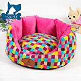Anti-slip Bottom Colorful Cotton Canvas Plush Cat Dog Small Animal Pet Sofa Bed (Large)