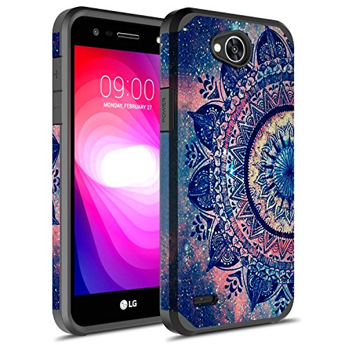 - LG X Power 2 Case, LG Fiesta LTE Case, LG K10 Power Case, Rosebono Hybrid Dual Layer Shockproof Hard Cover Graphic Fashion Cute Colorful Silicone Skin Case for LG LV7 - Mandala