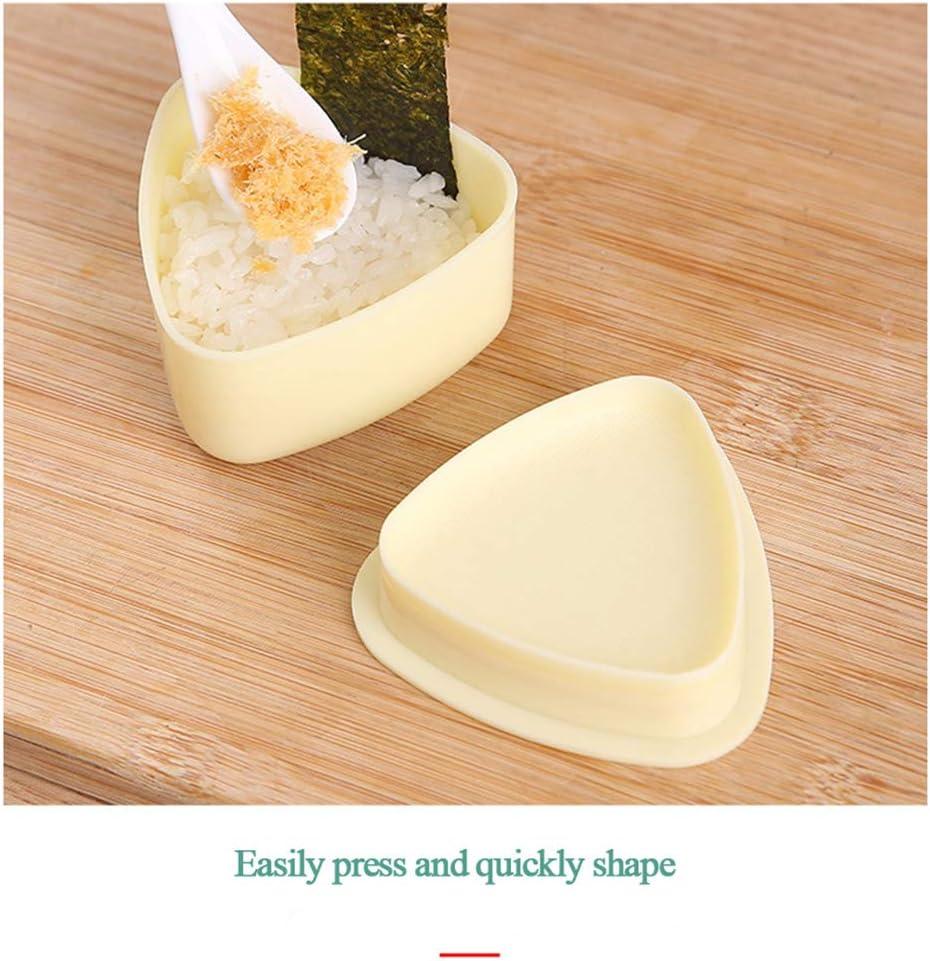 3 Unids//set Sushi Molde Onigiri Maker Bola de arroz Molde de prensas Bento Herramienta de bricolaje Herramientas pr/ácticas de cocina-Molde de sushi de masa de arroz M/áquina de bolas de arroz Herrami