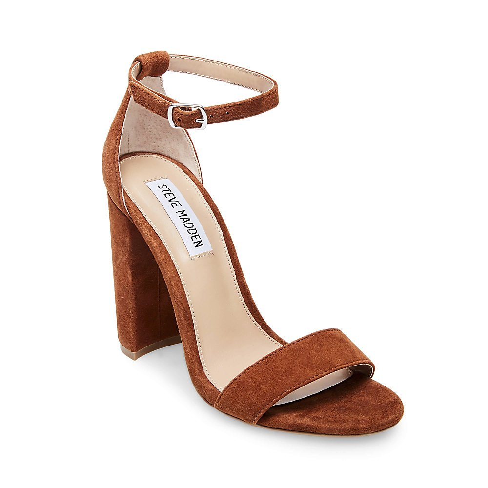 Steve Madden Women's Carrson Dress Sandal B07CZZLSS2 5.5 B(M) US|Chestnut Suede