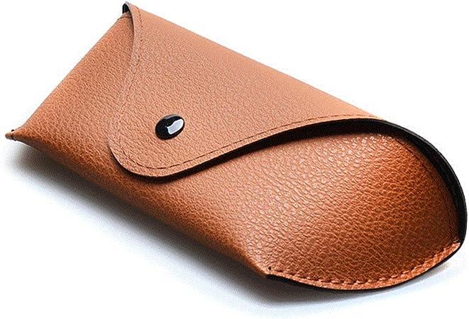 Estuche de gafas portátil magnético de piel para gafas de sol, funda fina de piel suave Tamaño libre 2: Amazon.es: Hogar