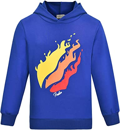 DCG PRINTWEAR Boys Girls Kids Prestonplayz T Shirt YouTube Youtuber Gaming T Shirt Preston Top 7-8 Years Azure Blue