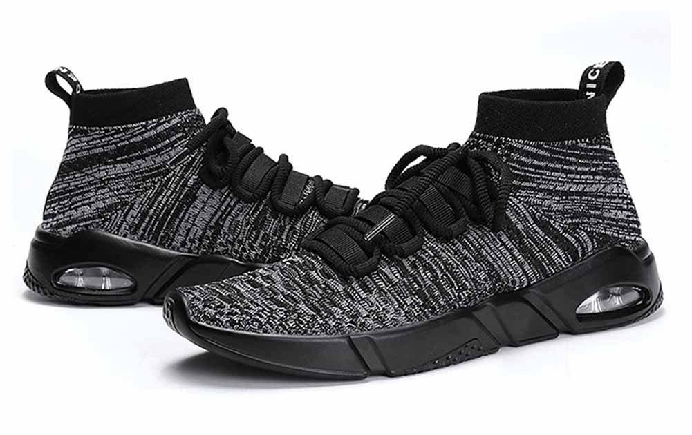 Hombres Casual Respirable Corriendo Zapatos Ligero Aire Zapatillas Nuevo Tejer Gimnasio Zapatos ( Color : Gray , tamaño : 46 ) 46|Gray