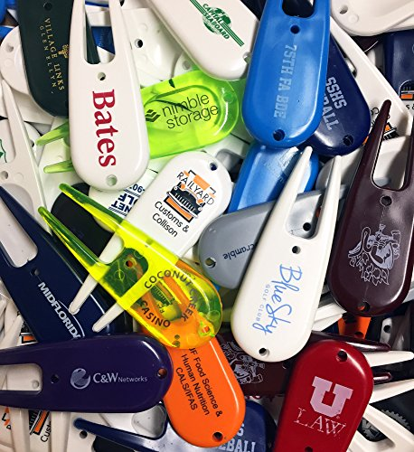 Overrun and Misprinted Plastic Divot Tools, New and Unused! 100 count! ()