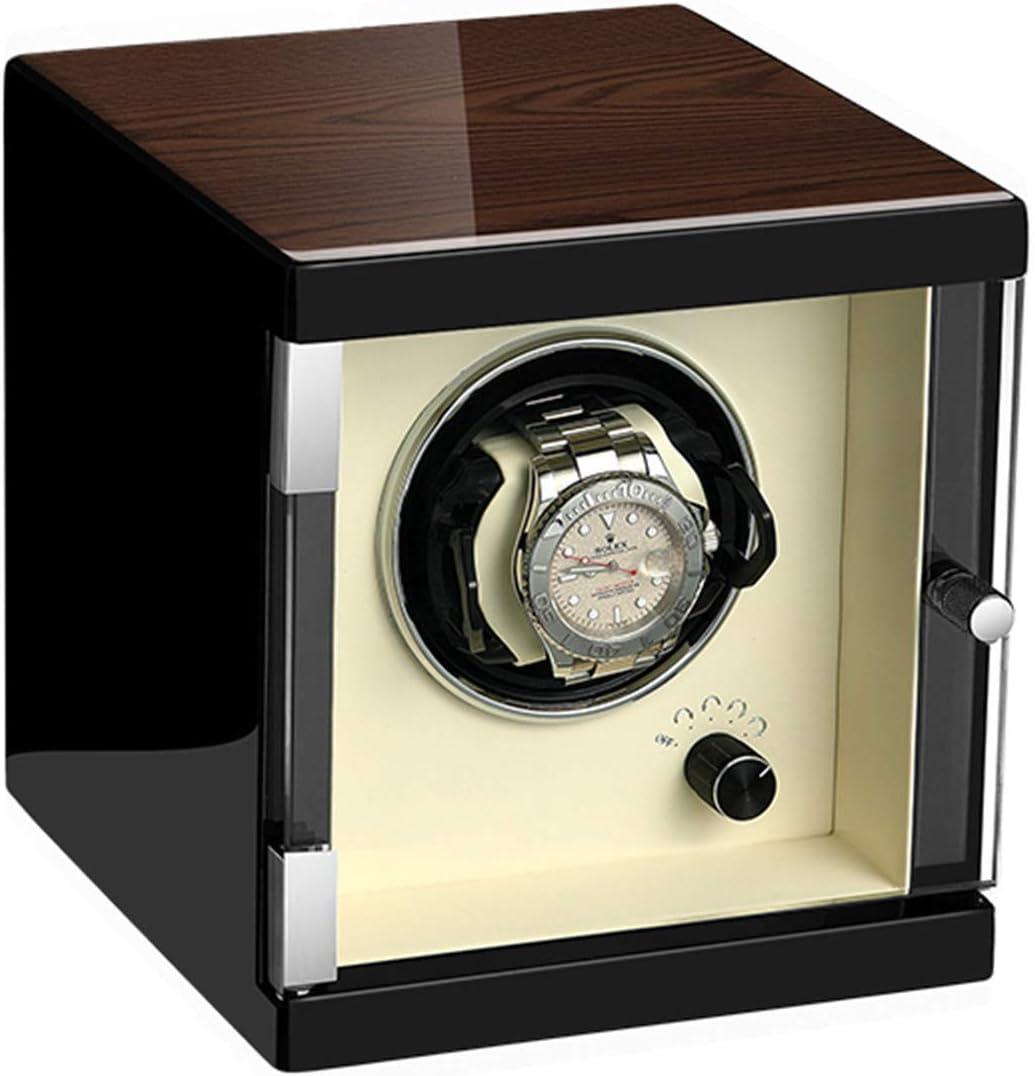 zyy Caja Giratoria para Relojes 1 Automatico Relojes 5 Programas de Rotación Caja de Cuero Sintético para Reloj Mecánico con Motor Silencioso Elaborado Manualmente Vitrina (Color : Classic Style)