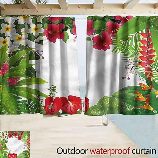 Beihai1Sun - Cortinas de jardín para Exteriores, diseño de Hojas orientales: Amazon.es: Jardín