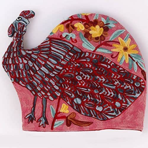 Amazon Com Peacock Quilted Tea Cozy Embroidered French