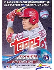 2018 Topps Series 1 MLB Baseball EXCLUSIVE Factory Sealed Retail Box with 100 Cards & SPECIAL MLB Players Weekend Commemorative PATCH! Loaded with Rookies & Inserts! Look for Autographs & Relics! HOT!