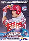 #8: 2018 Topps Series 1 MLB Baseball EXCLUSIVE Factory Sealed Retail Box with 100 Cards & SPECIAL MLB Players Weekend Commemorative PATCH! Loaded with Rookies & Inserts! Look for Autographs & Relics! HOT!