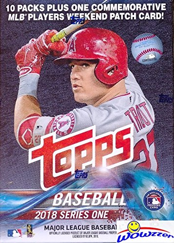 2018 Topps Baseball Card - 2018 Topps Series 1 MLB Baseball EXCLUSIVE Factory Sealed Retail Box with 100 Cards & SPECIAL MLB Players Weekend Commemorative PATCH! Loaded with Rookies & Inserts! Look for Autographs & Relics! HOT!