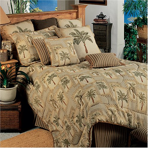 Image of All Seasons Bedding Palm Tree Grove - Comforter Set - Full