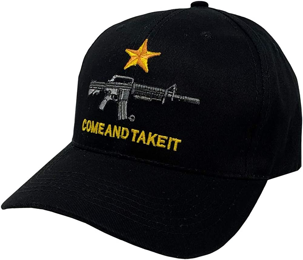 "Western Fashion Accessories /""Come and Take It/"" Adjustable Ball Cap Black"
