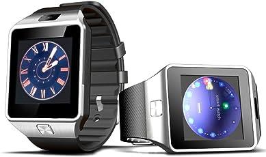 REDLEMON Smartwatch Reloj Inteligente Bluetooth con Ranura para Chip Micro SIM, Cámara, Pantalla Touch, Contador de Pasos y Tiempo, Monitor de Sueño, Notificaciones de Redes Sociales y Mensajería, Llamadas, SMS, Ranura MicroSD, Reproductor de Música, DZ09.
