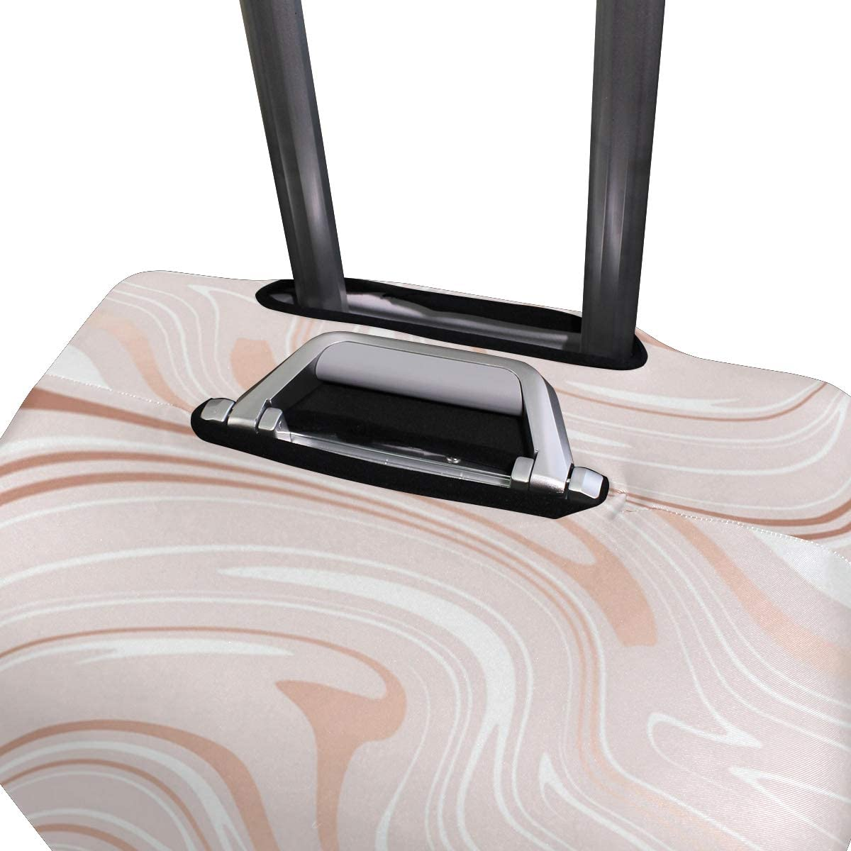 Rose Gold Marble Pattern Traveler Lightweight Rotating Luggage Cover Can Carry With You Can Expand Travel Bag Trolley Rolling Luggage Cover