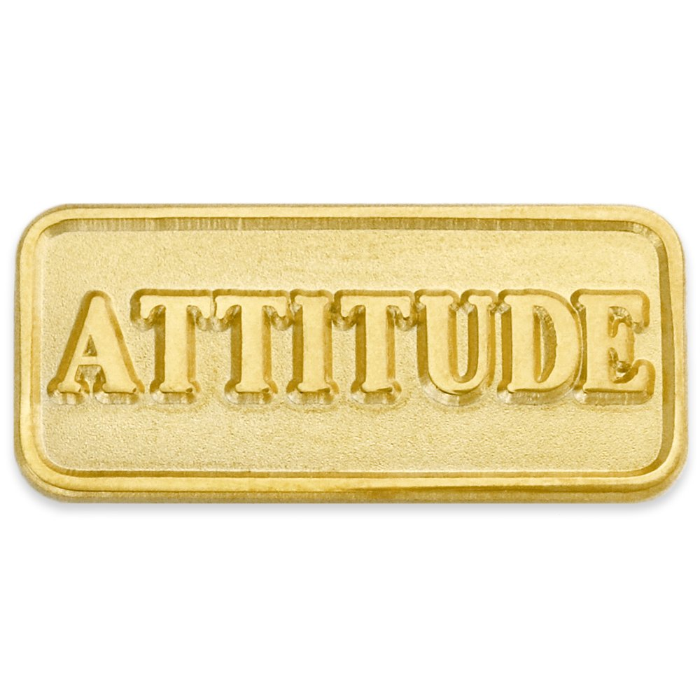 PinMart's Gold Plated Attitude Lapel Pin