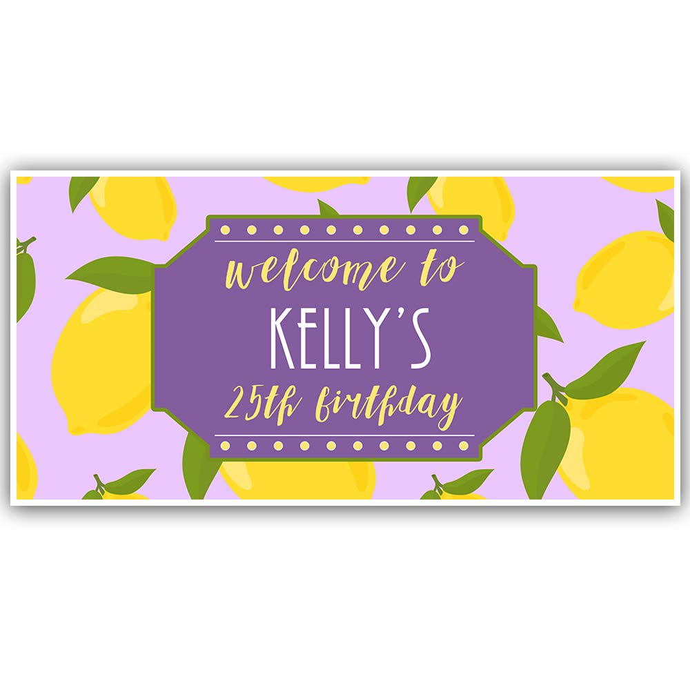 Lemon Classic Themed Birthday Personalized Banner Party Decoration