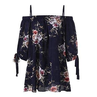 Blusa para Mujer de Moda Camis Camisa Estampada con Estampado Floral Blusa de Hombro Frío Tops Casuales 2018 ❤ Manadlian: Amazon.es: Ropa y accesorios