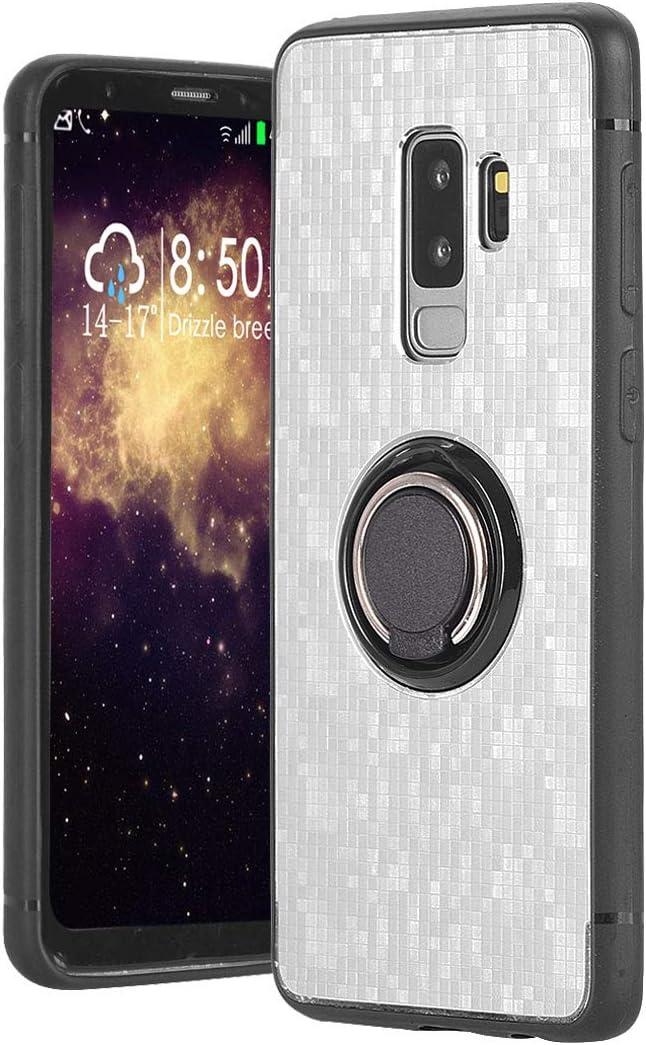 Galaxy S9 Plus móvil, silicona Cover Funda Con Anillo fingerhalterung 360 grados giratorio Soporte dual Layer Carcasa Antigolpes trabajo con imantadas Auto Soporte para Samsung Galaxy S9 +, gris: Amazon.es: Instrumentos musicales