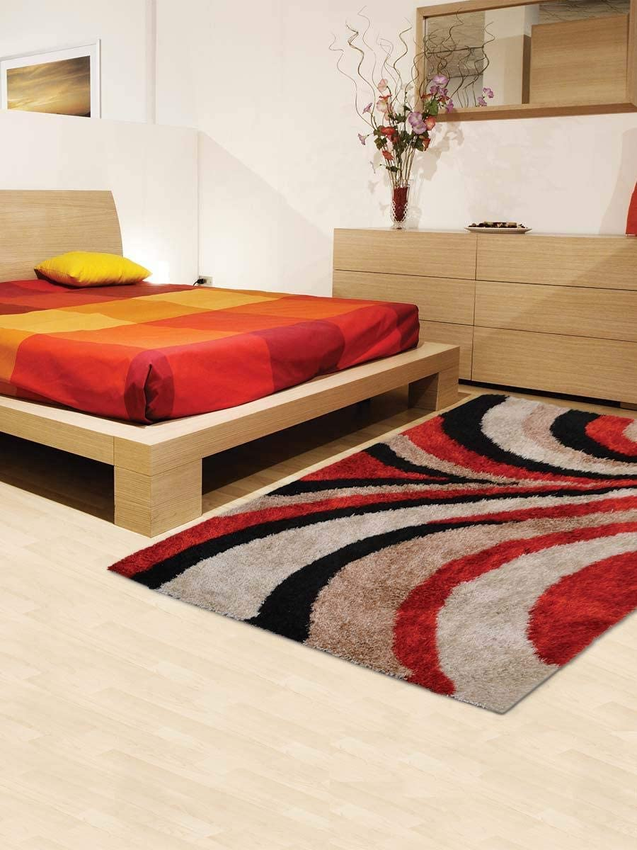 Rugsotic Carpets Hand Tufted Shag Polyester 8 x10 Area Rug Contemporary Multicolor K00028