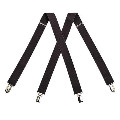 Kat Cheung Bahar Nice Boys Baby 4 Clips Dark Brown Suspenders Kids X-Back Elastic Braces Adjustable Fashion Suspenders Baby Boys Wedding Party