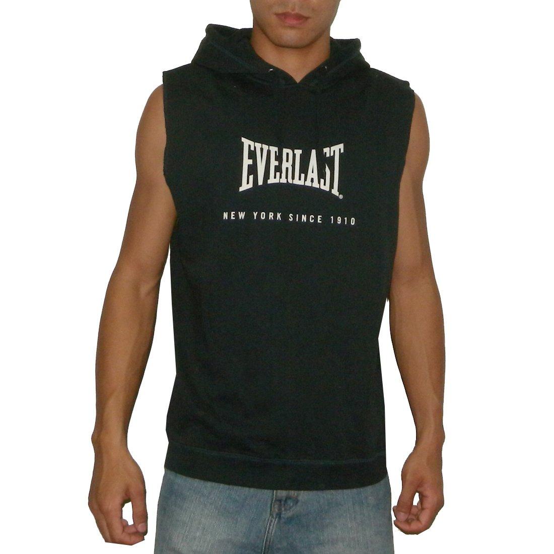 d7f7dcbf33cae EVERLAST Mens Athletic Sleeveless Pullover Hoodie Sweatshirt   Vest - Dark  Blue (Size  2XL) at Amazon Men s Clothing store  Sweater Vests