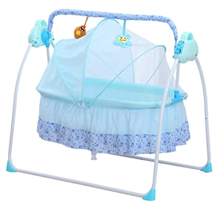 wbpine fashion electric baby crib with mosquito nets,baby bed babywbpine fashion electric baby crib with mosquito nets,baby bed baby shaker cradle swing with seat belt (blue) amazon co uk kitchen \u0026 home