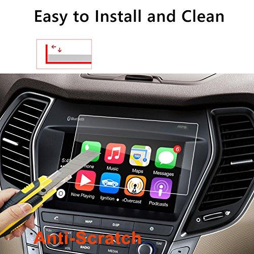 LFOTPP 2015-2018 Hyundai Santa Fe Blue Link 7 Inch Car Navigation Screen Protector, [9H] Tempered Glass Infotainment Center Touch Screen Protector Anti Scratch High (Santa Fe Tool Car)