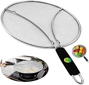 Grease Splatter Guard, Splatter Screen for Frying Pan 11.8