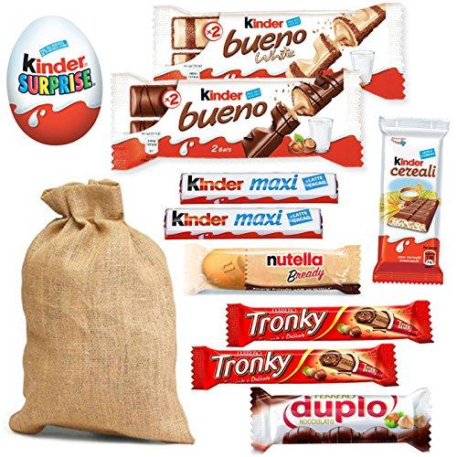 SACCO + DOLCI per CALZA della BEFANA Mix Dolcetti Bambino Kinder Cereali  Maxi Duplo Tronky Ferrero