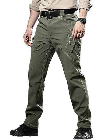 8c0a5200 TACVASEN Men's Insulated Outdoor Climbing Pants Softshell Warm Fleece  Mountain Ski Pants Army Green,US