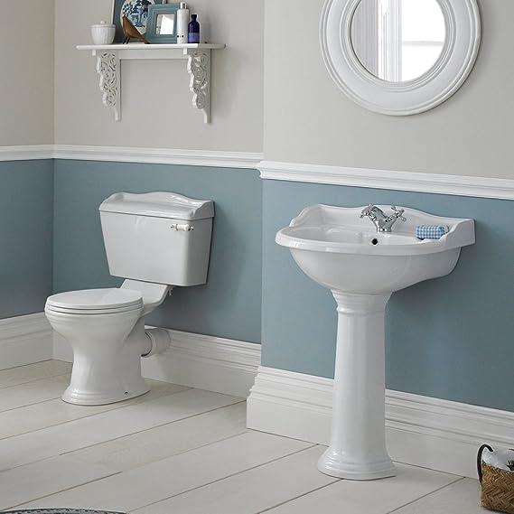 Home Standard® Marquis Traditional Bathroom White Ceramic Toilet ...