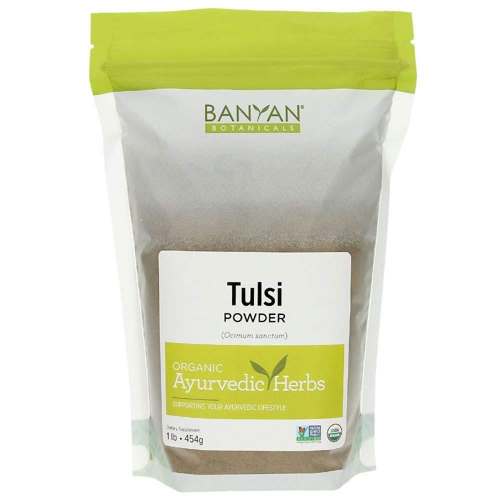 Banyan Botanicals Tulsi Powder, 1 Pound - USDA Organic - Ocimum Sanctum - Holy Basil - Ayurvedic Adaptogen* by Banyan Botanicals