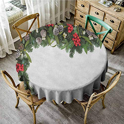 Rank-T Tablecloth Covered Round Table 35