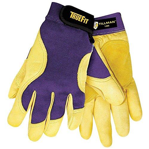John Tillman 1480L Large Blue/Gold True Fit Full Finger Top Grain Spandex/Deerskin Premium Mechanics Gloves, English, 15.34 fl. oz, Plastic, 1 x 7.5 x -