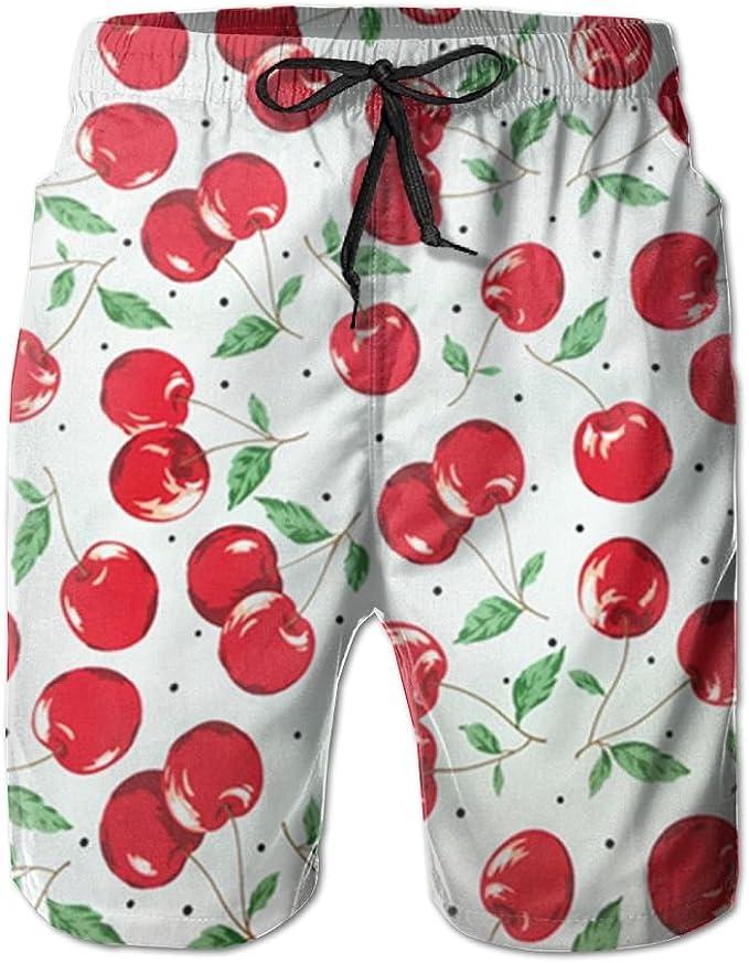 Cherry Swim Shorts Mens Swim Trunks Beach Shorts Board Shorts