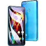 Haihuic Factory Unlocked 3G Smartphone, 5.5 inch Full Screen Android 4.4, 4GB ROM, Dual SIM, Dual Camera, Face ID WiFi GPS SIM-Free 2G/3G 2200mAh Battery Blue