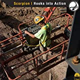 KwikSafety (Charlotte, NC) SCORPION (2 PACK) Safety Harness w/attached 6ft. Tubular Lanyard on back | OSHA ANSI Fall Protection | INTERNAL Shock Absorbing Lanyard | Construction Carpenter Scaffolding