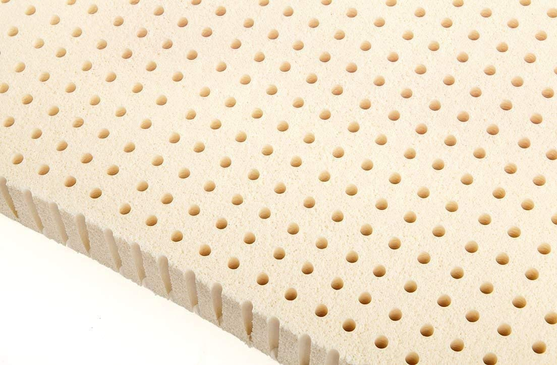 Standard King - 3 Inch Natural Latex Foam Mattress Pad Topper - Firm by Ultimate Sleep