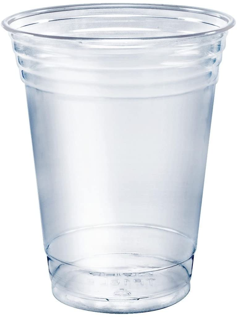 SOLO Cup Company Plastic Party Cold Cups, Clear, 12 oz. (Pack of 50)