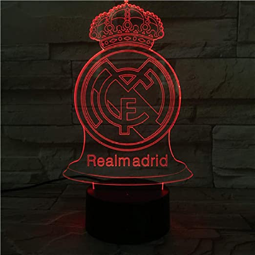 SHJDY-Real Madrid Football Club, 7 Colores, Luces Para ...