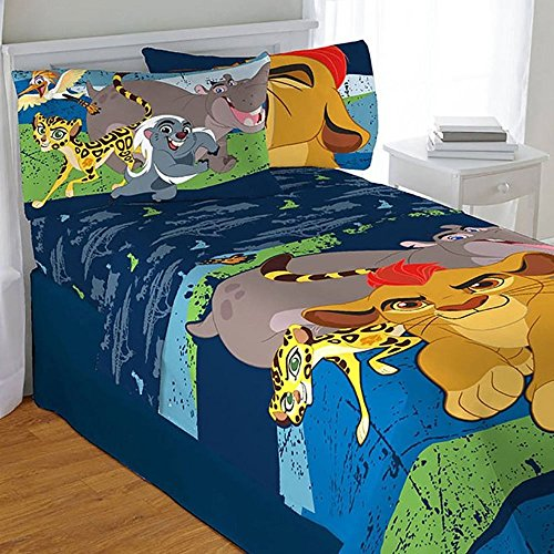 4pc Disney Lion Guard Twin Bedding Set Lion King All For One Comforter and Sheets